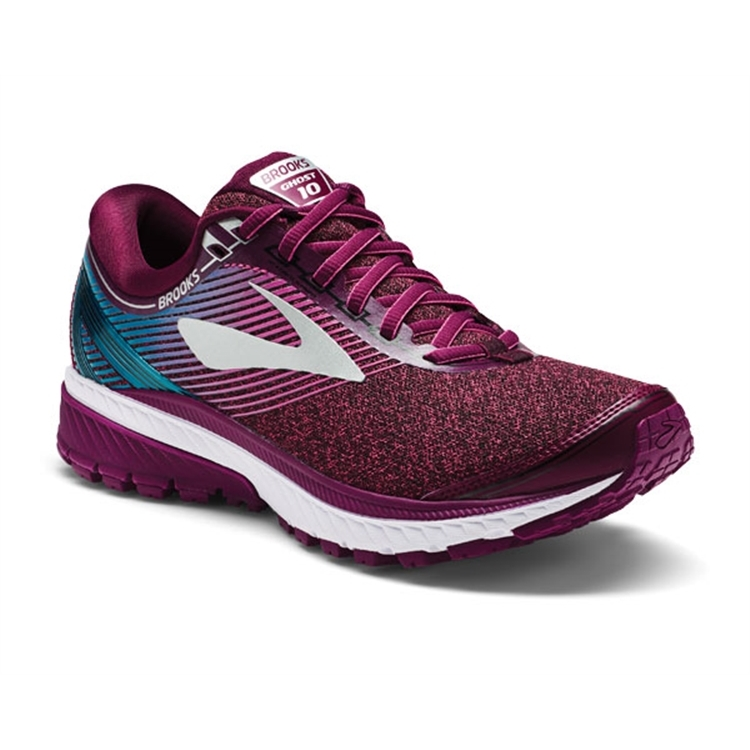 brooks Women's Ghost 10 Purple / Pink / Teal