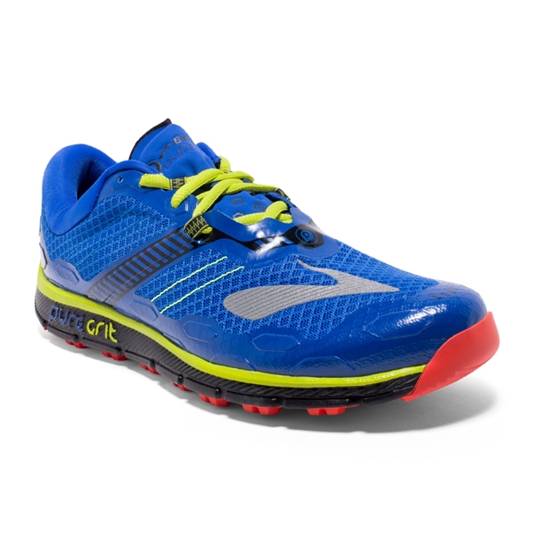 brooks Men's PureGrit 5 Blue / Black / Lime