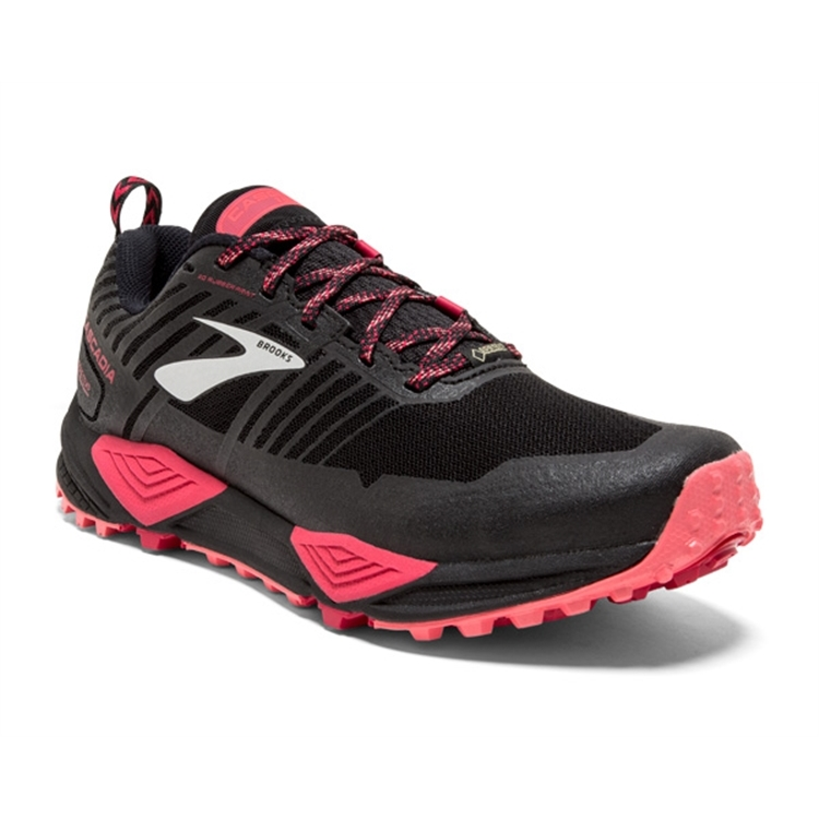 brooks Women's Cascadia GTX 13 Black / Pink / Coral