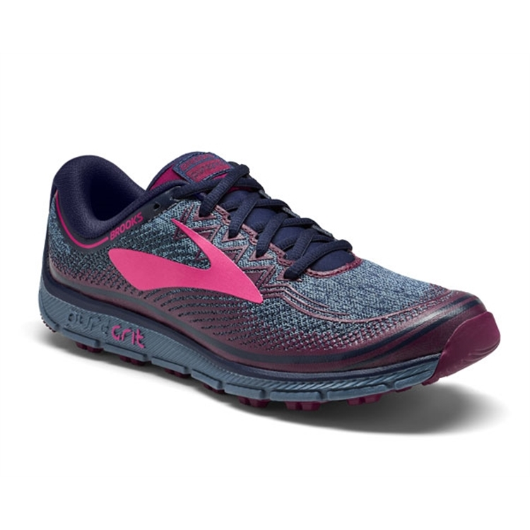brooks Women's PureGrit 6 Navy / Plum / Pink