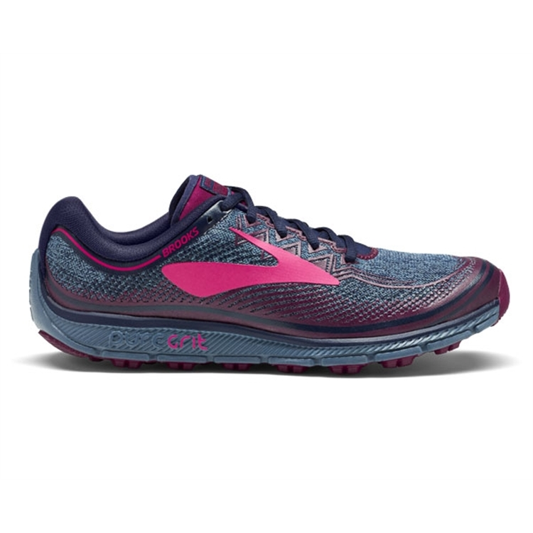 brooks Women\'s PureGrit 6 Navy / Plum / Pink