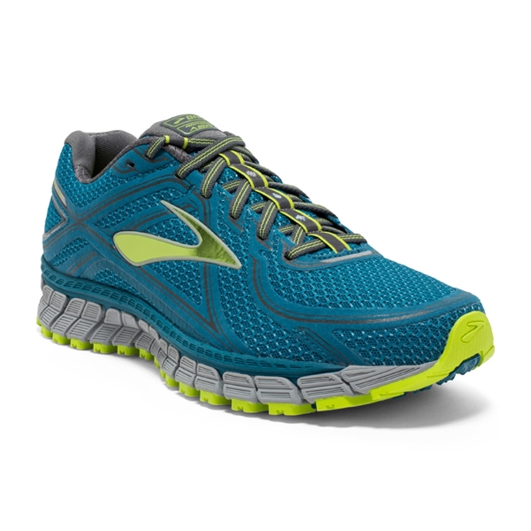 brooks Men's Adrenaline ASR 13 Blue / Lime Punch / Anthracite
