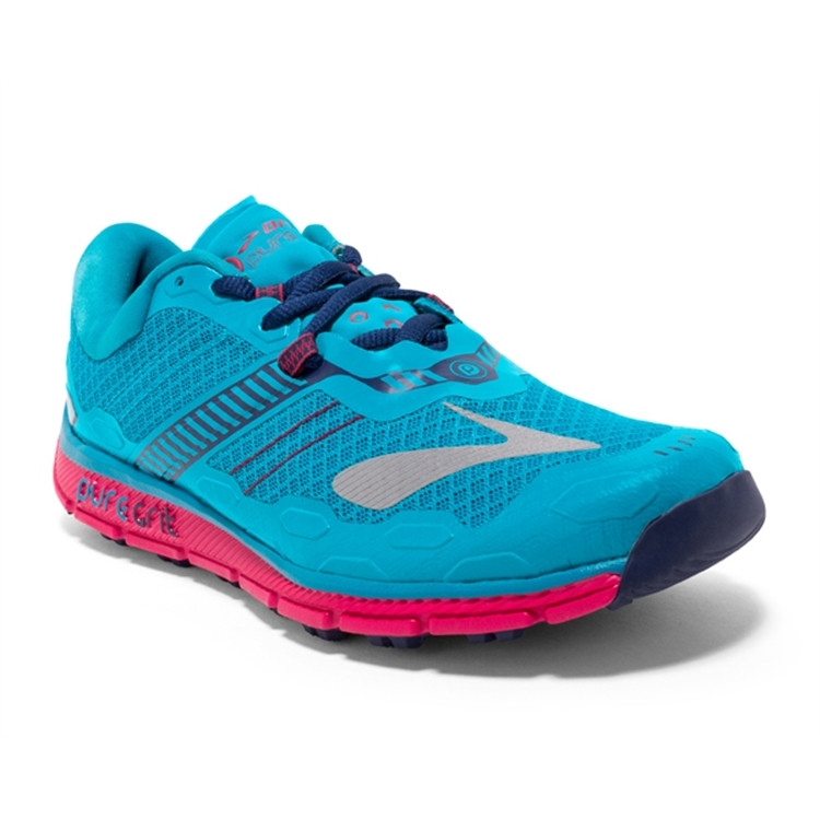brooks Women's PureGrit 5 Blue / Virtual Pink