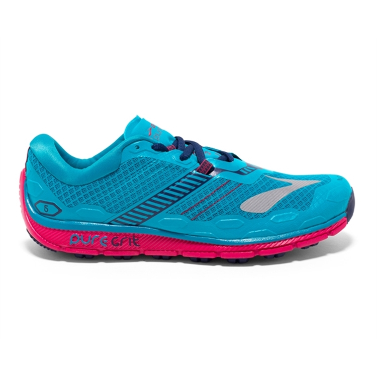 brooks Women\'s PureGrit 5 Blue / Virtual Pink