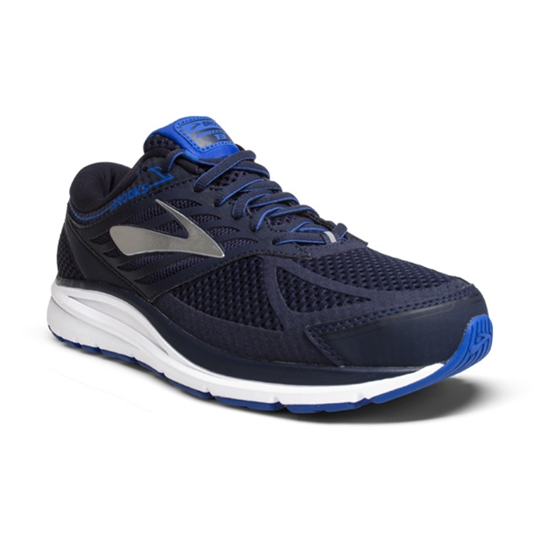 brooks Men's Addiction 13 Navy / Silver / Electric Blue