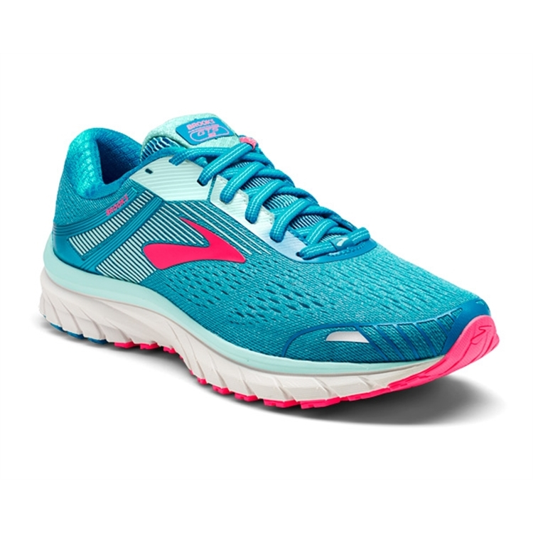 brooks Women's Adrenaline GTS 18 Blue / Mint / Pink