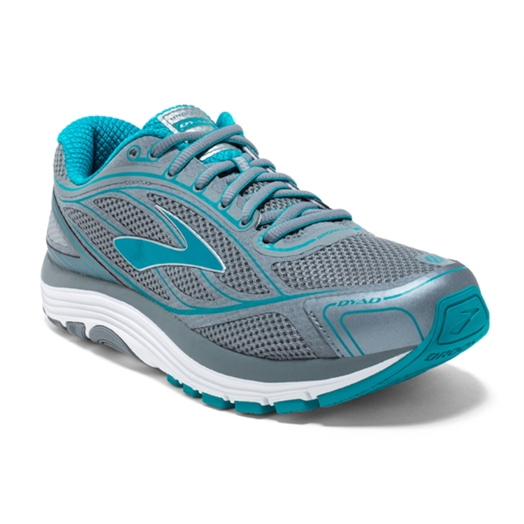brooks Women's Dyad 9 Grey / Capri Breeze / Silver