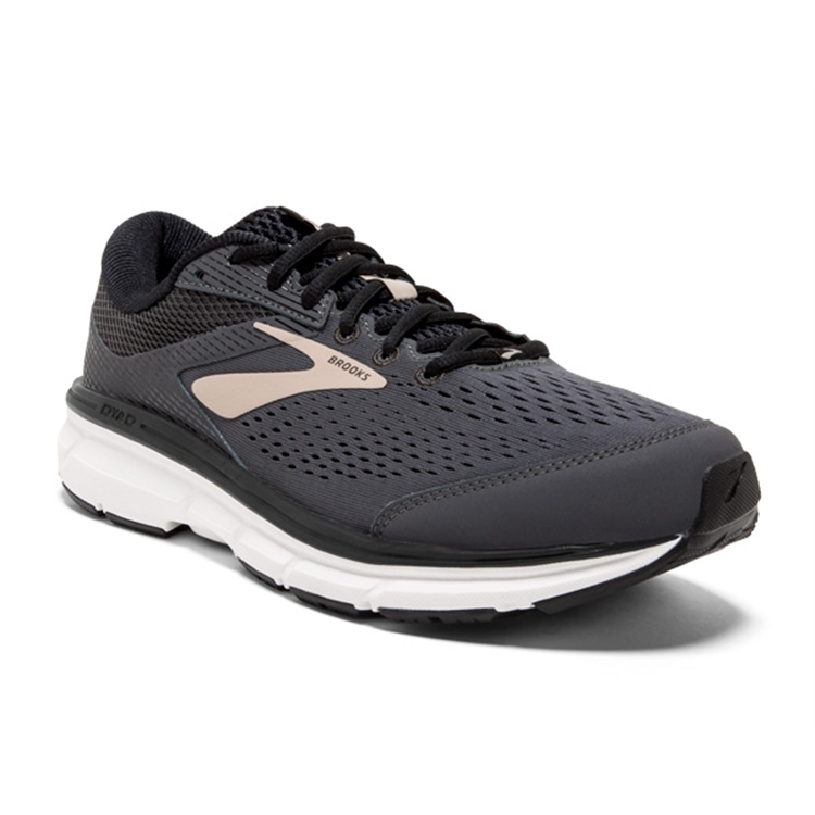 brooks Men's Dyad 10 Grey / Black / Tan