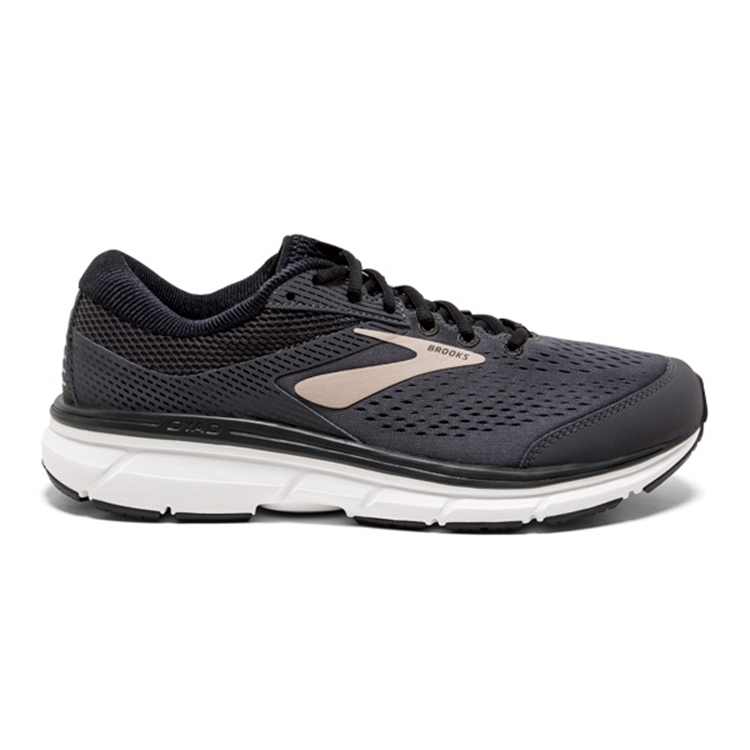 brooks Men\'s Dyad 10 Grey / Black / Tan