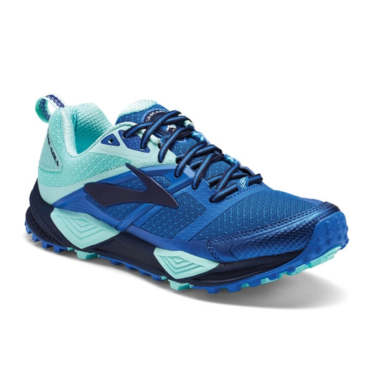 brooks Women's Cascadia 12 Navy / Blue / Mint