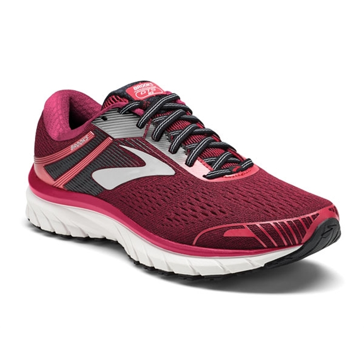 brooks Women's Adrenaline GTS 18 Pink / Black / White