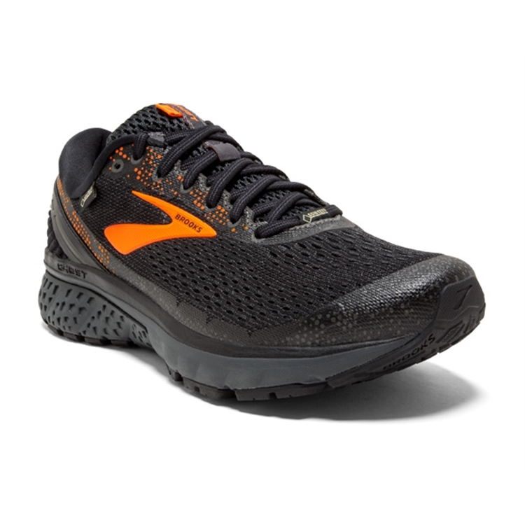 brooks Men's Ghost GTX 11 Black / Orange / Ebony