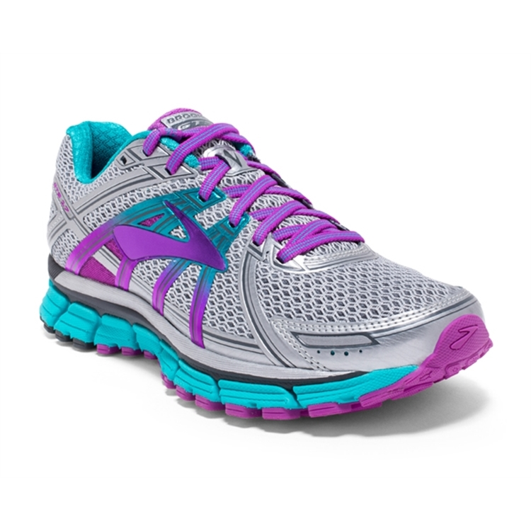brooks Women's Adrenaline GTS 17 Silver / Purple / Bluebird