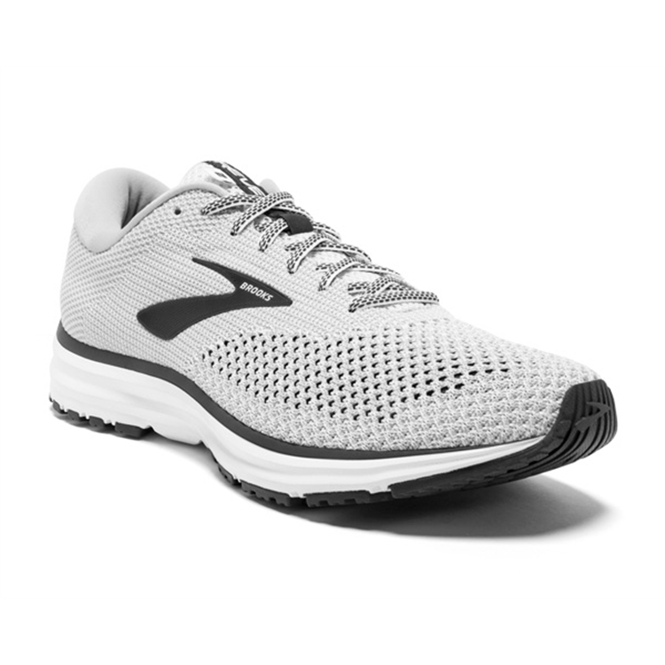 brooks Men's Revel 2 White / Grey / Black