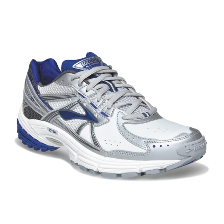 brooks Men's Maximus XT 10 Leather White / Surf The Web / India Ink