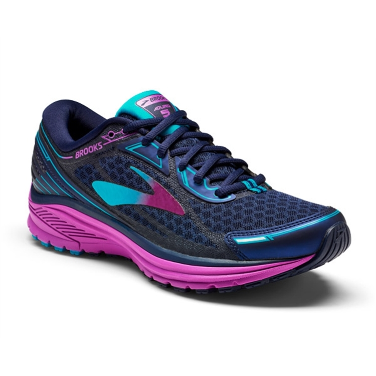 brooks Women's Aduro 5 Evening Blue / Purple Cactus