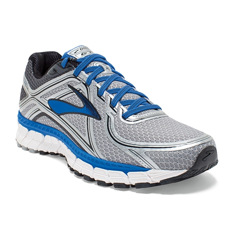 brooks Men's Adrenaline GTS 16 Silver / Electric Brooks Blue / Black