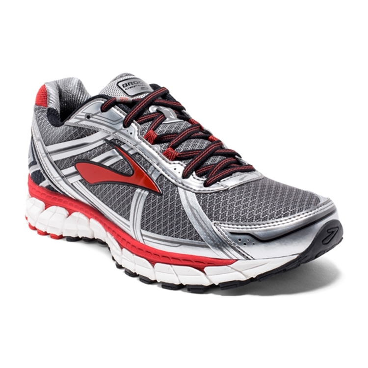 brooks Men's Defyance 9 Charcoal / Silver / Red