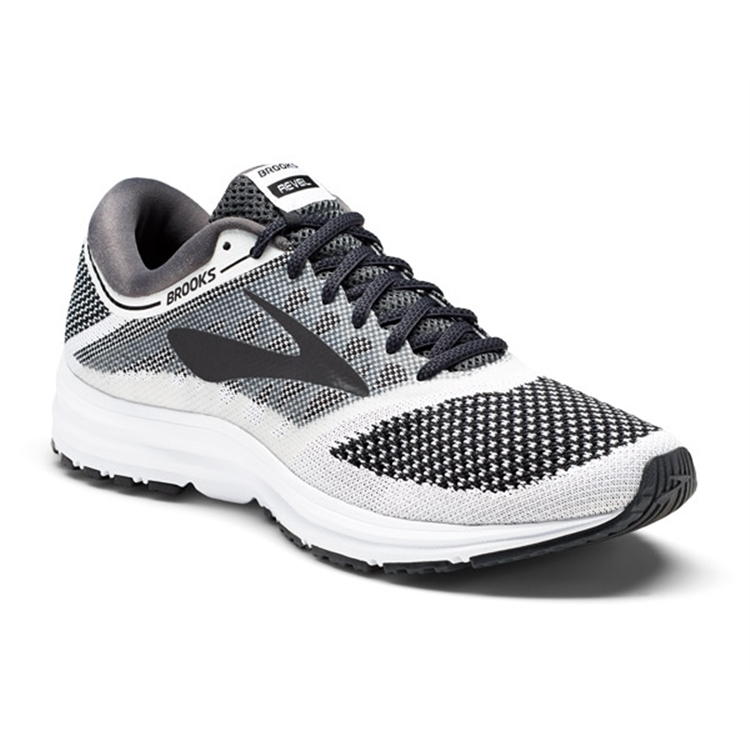 brooks Women's Revel White / Anthracite / Black