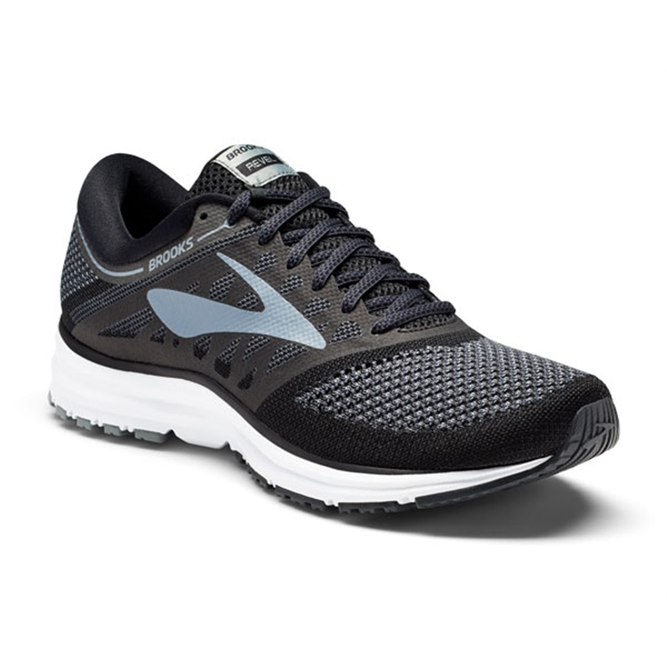 brooks Men's Revel Black / Anthracite/grey