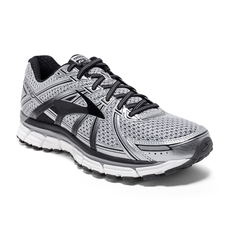 brooks Men's Adrenaline GTS 17 Silver / Black / Anthracite