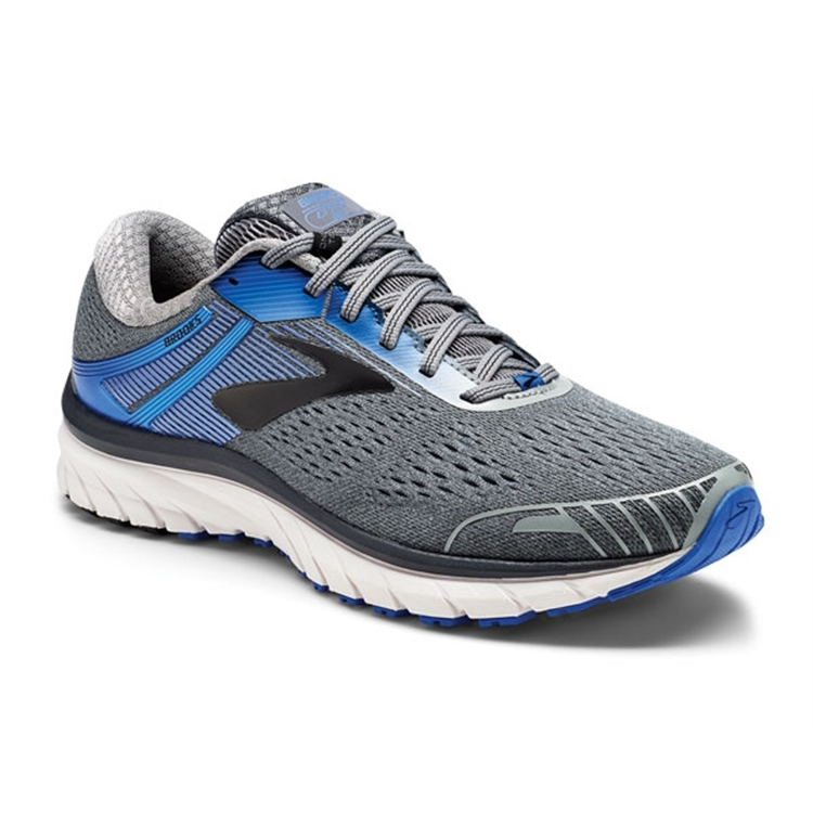brooks Men's Adrenaline GTS 18 Grey / Blue / Black